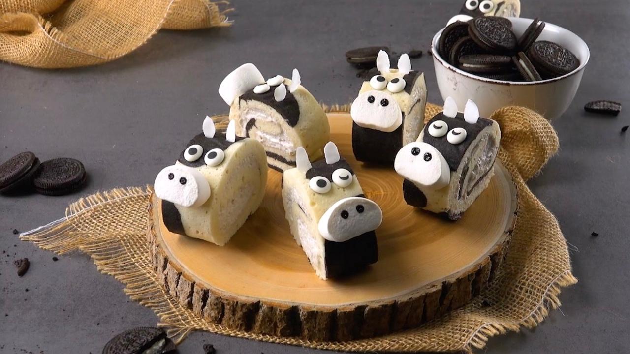 子供も喜ぶオレオで作る牛柄のロールケーキのレシピ