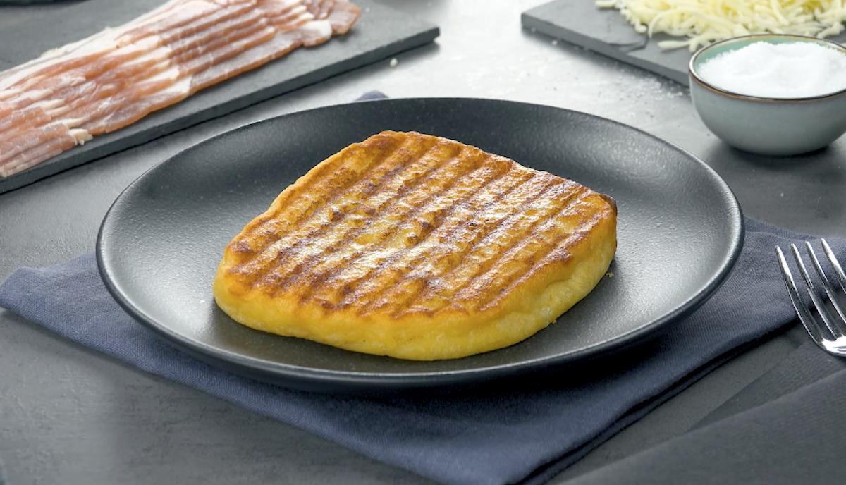 Mashed Potato Sandwich with Bacon & Mozzarella