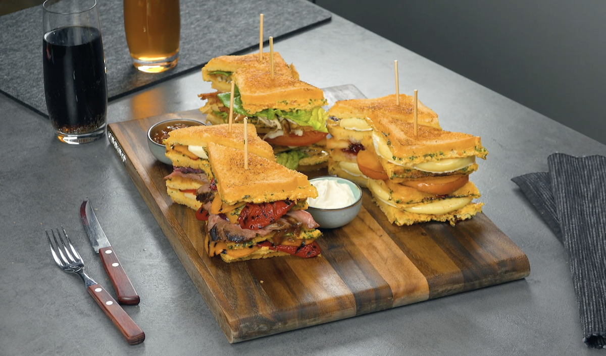 3 Eggcellent Extra-Large Sandwiches Loaded With Steak, Bacon, And Camembert Cheese